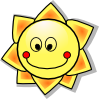 free vector Smiling Cartoon Sun clip art