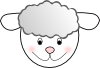 free vector Smiling Good Sheep clip art