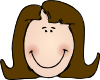 free vector Smiling Lady Face clip art