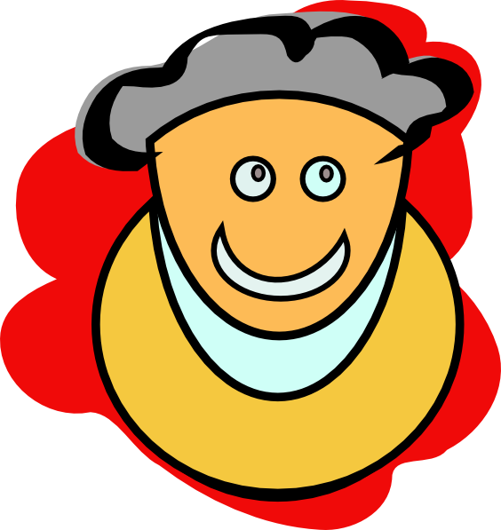 Smiling Man clip art Free Vector / 4Vector
