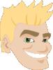 free vector Smiling Man Head clip art