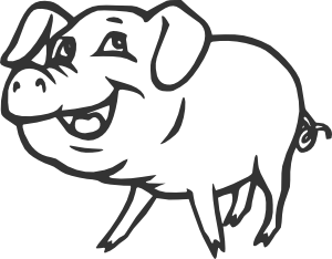free vector Smiling Pig clip art