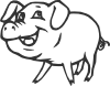 free vector Smiling Pig clip art