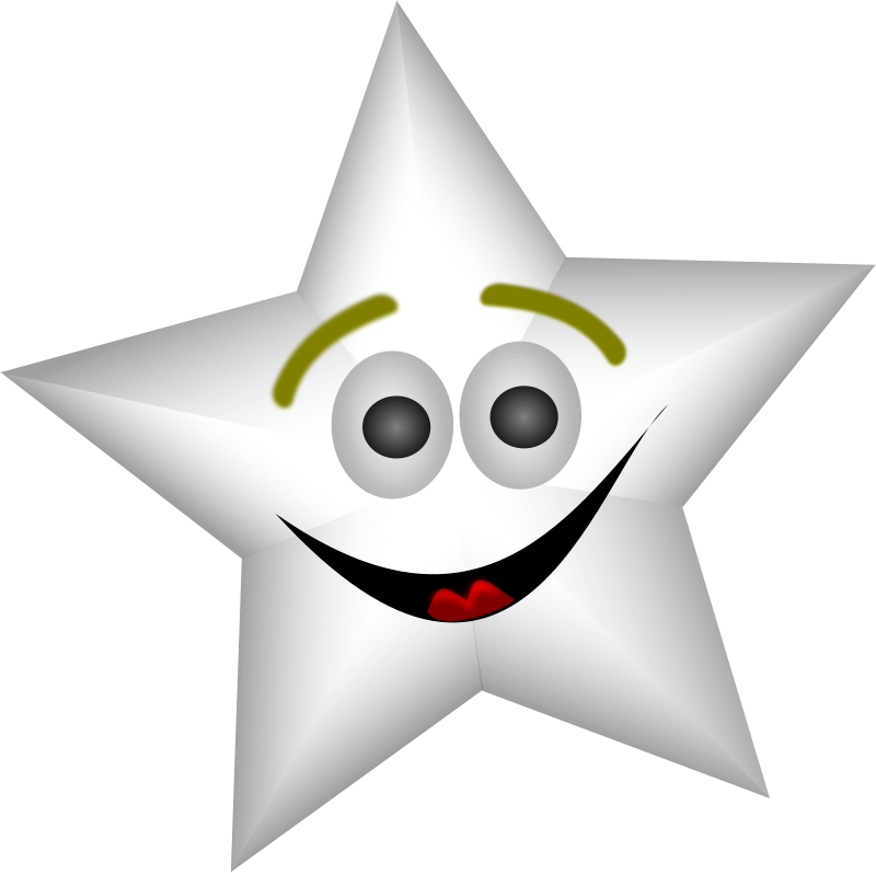 free vector Smiling Star with Transparency