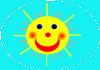 free vector Smiling Sun clip art