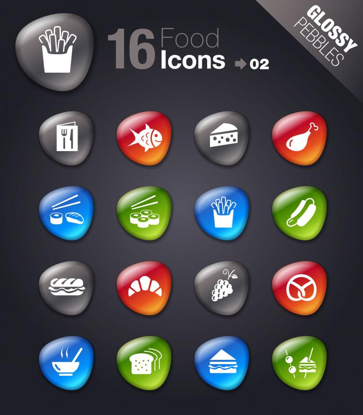 free vector Smooth soft stone icon 02 vector