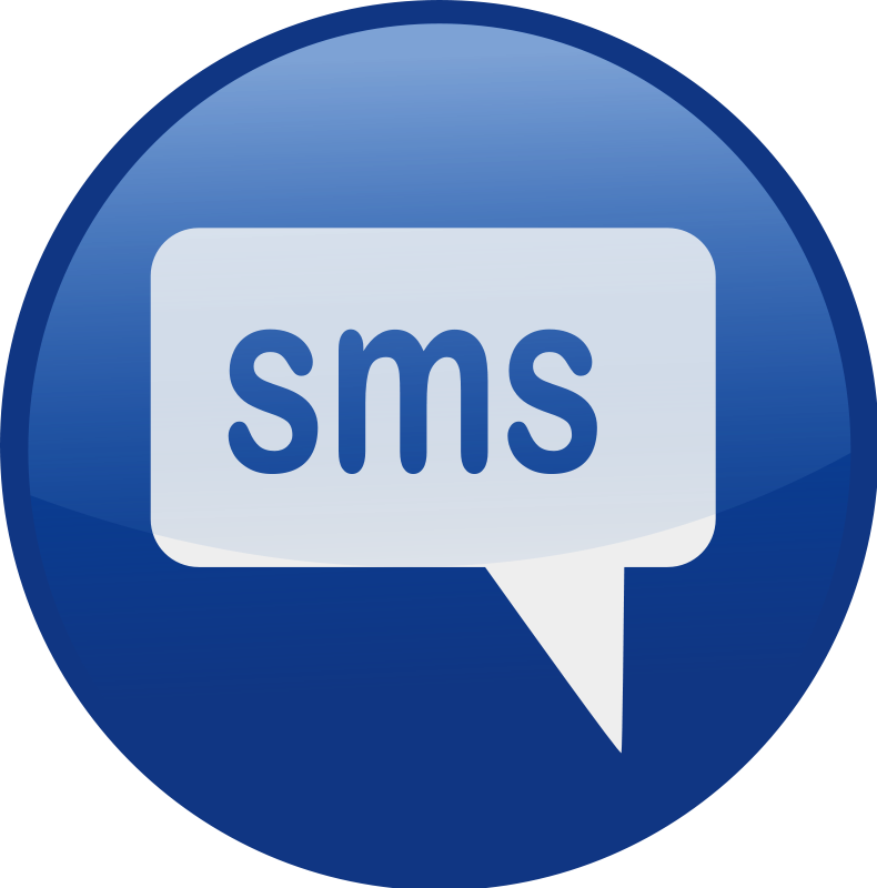 free vector Sms-blue
