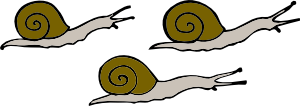 free vector Snails clip art