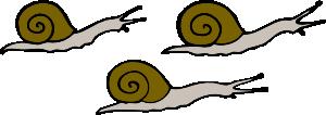 free vector Snails clip art