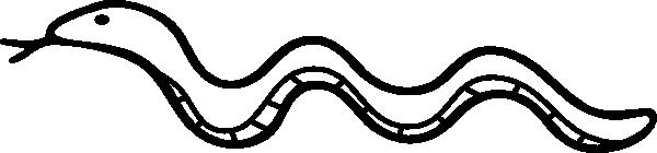 free vector Snake Outline clip art