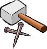 free vector Snarkhunter Hammer And Nails clip art