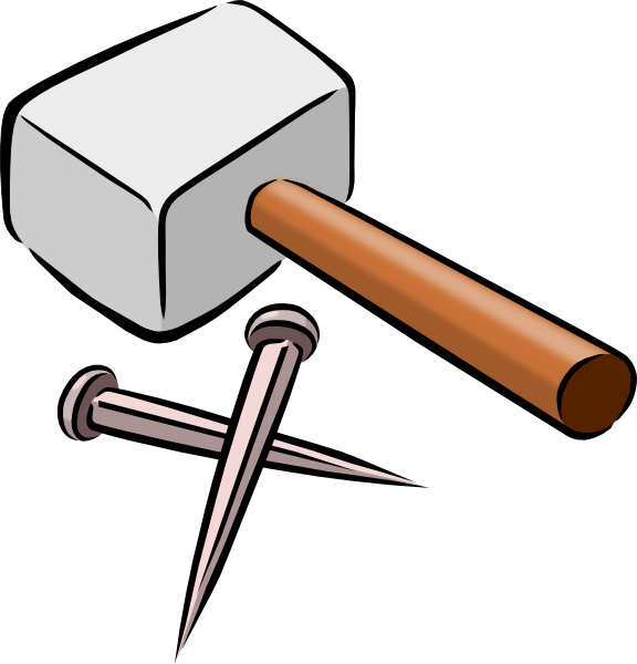 snarkhunter hammer and nails clip art free vector 4vector rh 4vector com clipart hammer black and white clip art hammer and nails