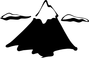 free vector Sneptune Mountain In Ink clip art