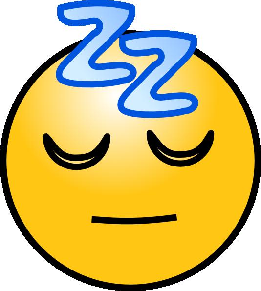 free vector Snoring Sleeping Zz Smiley clip art