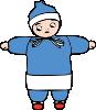 free vector Snow Child clip art