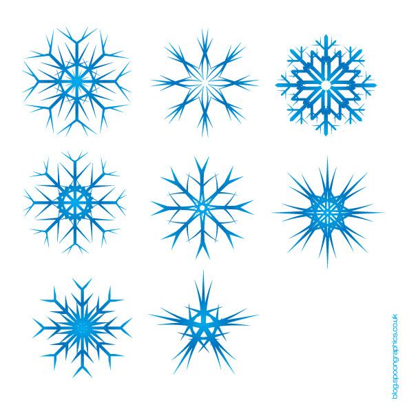 free vector  Snow Flake Vectors