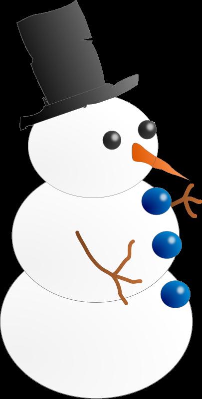 free vector Snow-man. Hombre de nieve