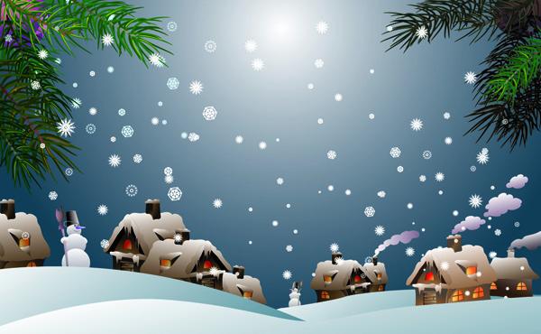free vector Snow vector 5667