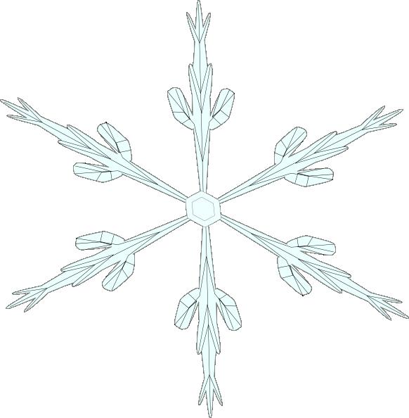 free vector Snowflake 6 clip art