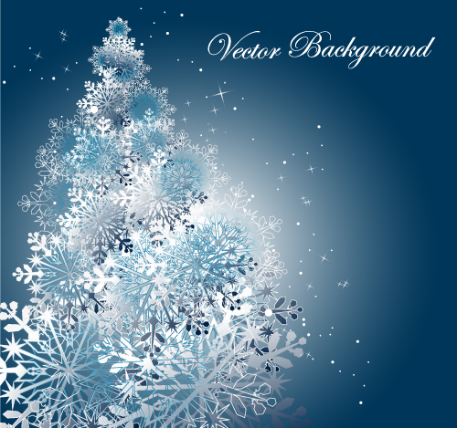 free vector Snowflake background 03 vector