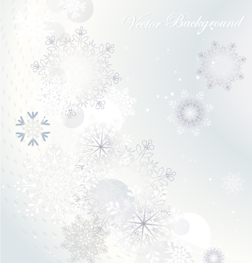 free vector Snowflake background 04 vector