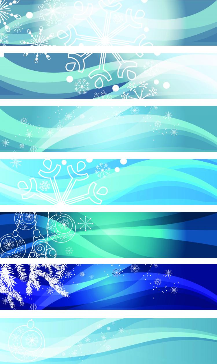 free vector Snowflake background banner vector