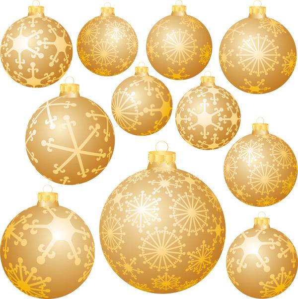 free vector Snowflake ball christmas decorations vector