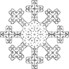 free vector Snowflake Outline clip art