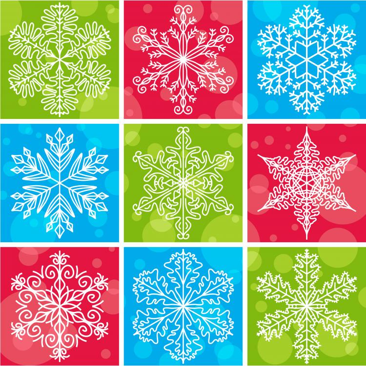 free vector Snowflake pattern 02 vector