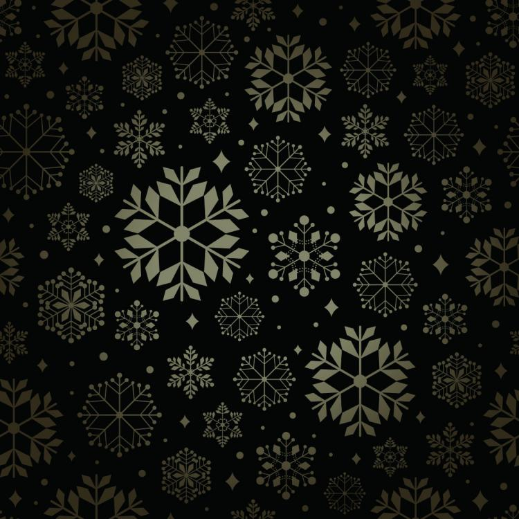 free vector Snowflake pattern background vector