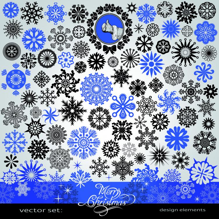 free vector Snowflake pattern vector