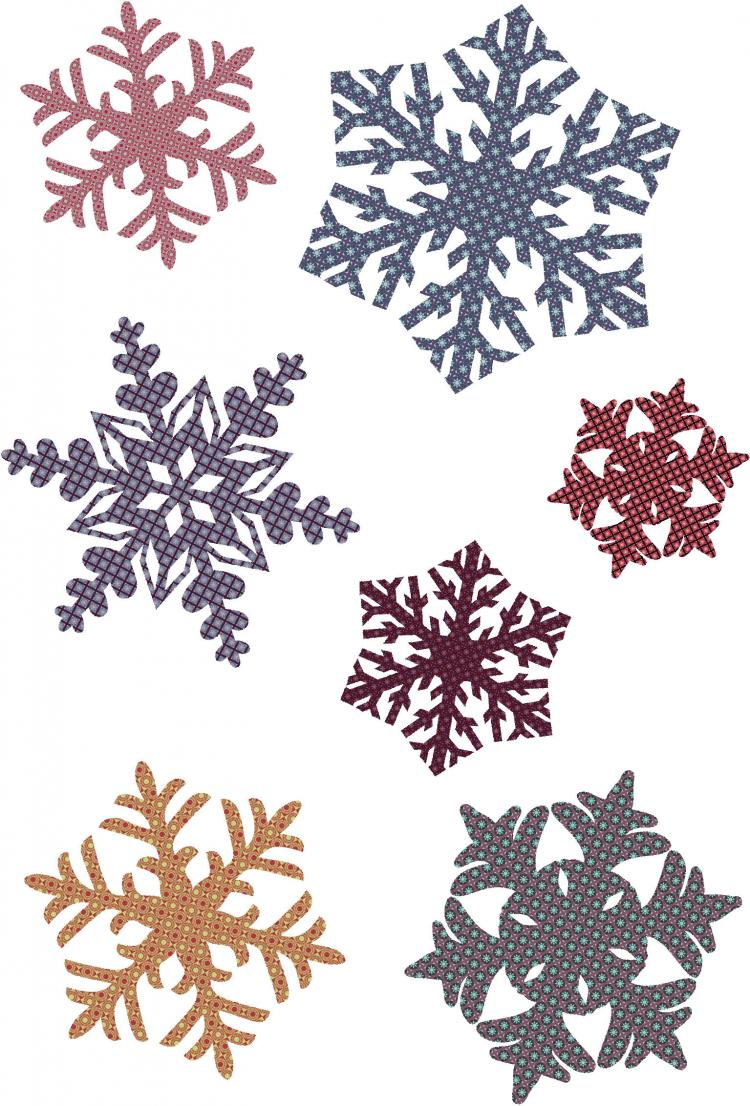 free vector Snowflake patterns vector