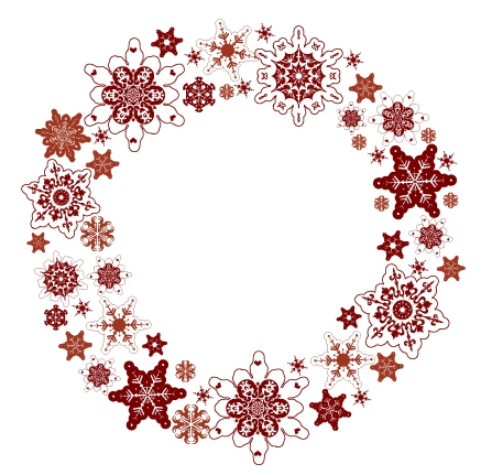 free vector Snowflake wreath