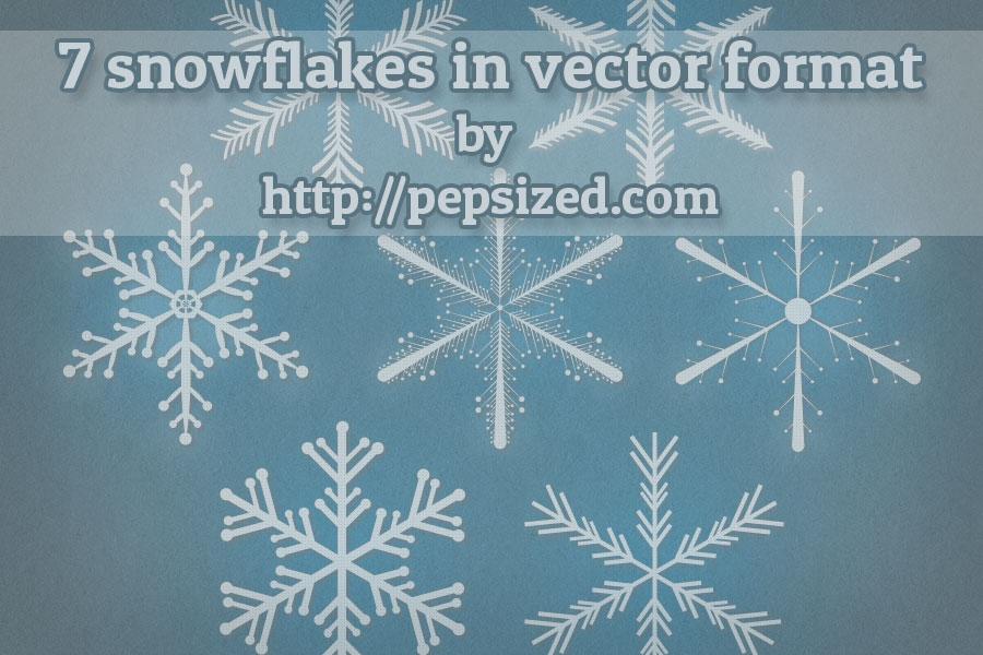 free vector Snowflakes Free Vector