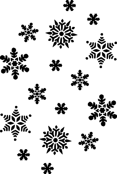 free vector Snowflakes Silhouette clip art