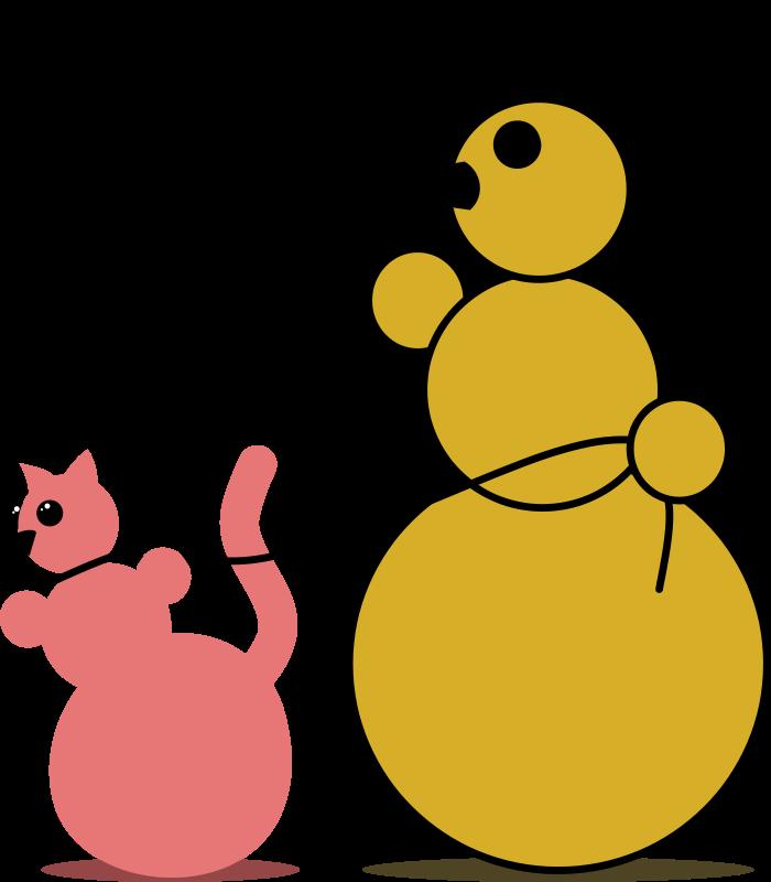free vector Snowman Cat Fancier by Rones