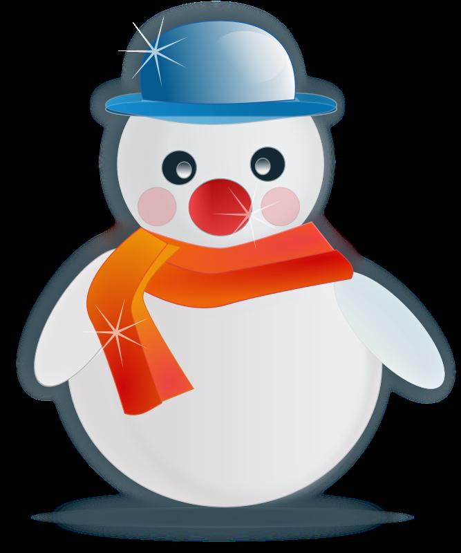 free vector Snowman glossy