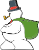 free vector Snowman Side View clip art