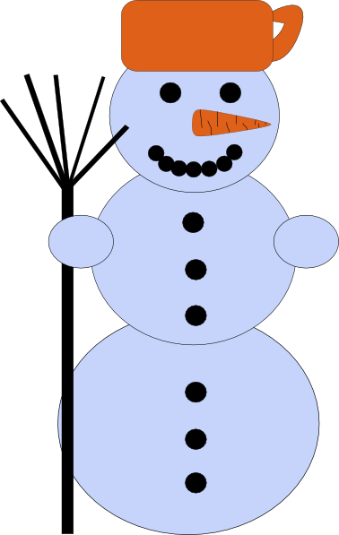 free vector Snowman With Broom clip art