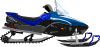free vector Snowmobile  clip art