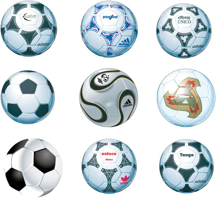 free vector Soccer – Football Balls  Vector