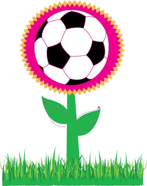 free vector Soccer Flower