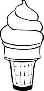 free vector Soft Serve Ice Cream Cone (b And W) clip art