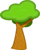 free vector Soft Trees clip art