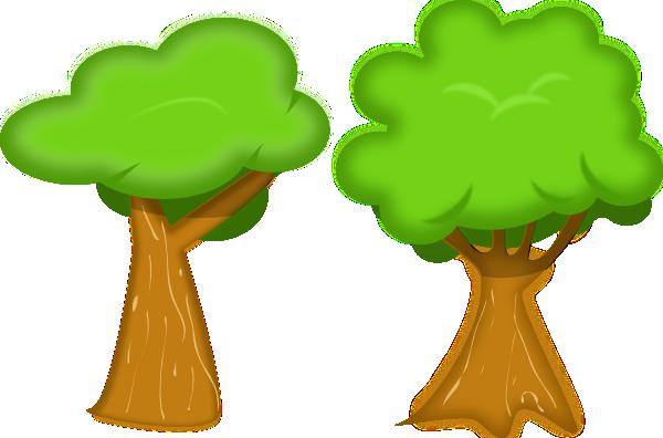 Soft Trees clip art Free Vector / 4Vector
