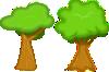 free vector Soft Trees clip art