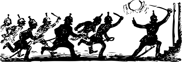 free vector Soldiers In Battle clip art