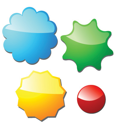 free vector Some commonly used threedimensional web design icon vector