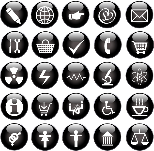 free vector Some useful button icon vector
