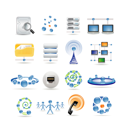 free vector Sophisticated technology blue icon 01 vector
